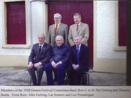 Members of the 1958 Drama Festival Committee