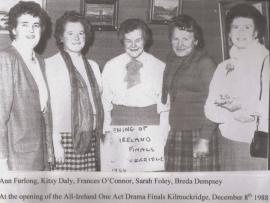 Opening of All-Ireland One Act Drama Festival in Kilmuckridge 1988