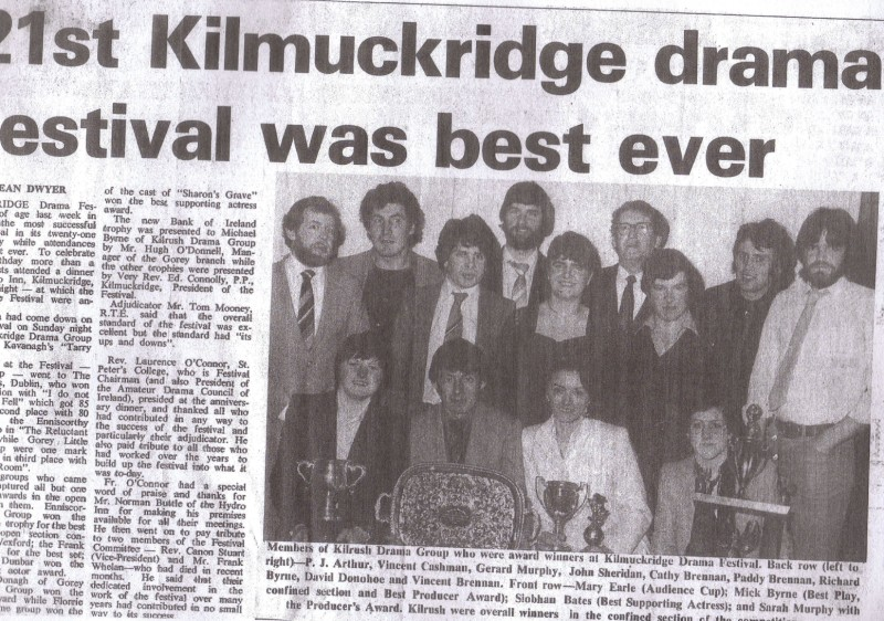 "Kilrush Drama Group 1981 ""Sharon's Grave"""