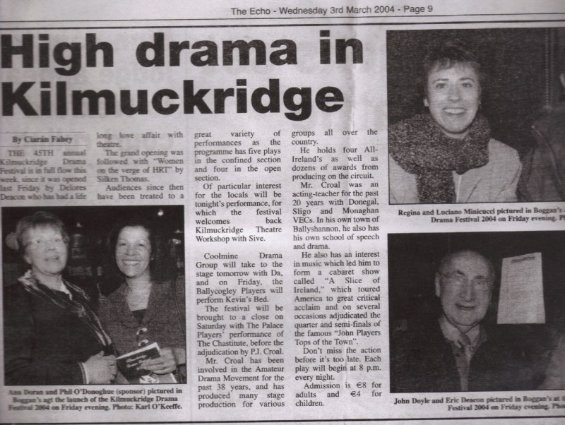 Kilmuckridge Drama Festival 2004